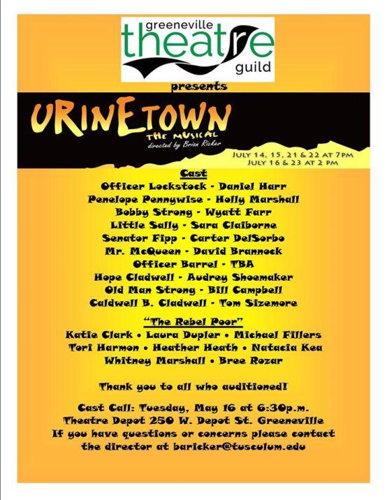 Urinetown Cast